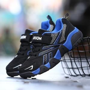 Image 4 - أطفال أحذية بنين بنات عادية شبكة أحذية رياضية تنفس لينة سوليد تشغيل أحذية رياضية طفل صبي أحذية الأولاد أحذية رياضية