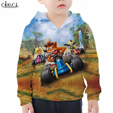 Kids Games Crash Bandicoot Hoodies 3D Print Boy Girl Clothes Childrens Sweatshirt Casual Fashion Naughty Kid Pullover Tops M007