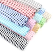 100% algodón negro blanco gris tela impresa a cuadros para acolchado niños Patchwork tela DIY costura Material de los cuartos gruesos para bebé