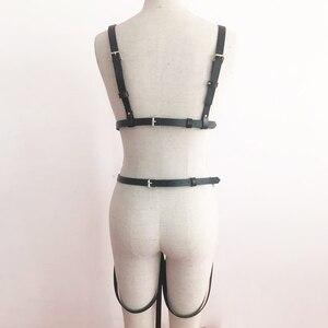 Image 5 - UYEE Fashion Women Harness Body Belts Garters Bondage Belt Punk Strap Band Garter Suspenders Straps Women Sexy Body Cage LT 025