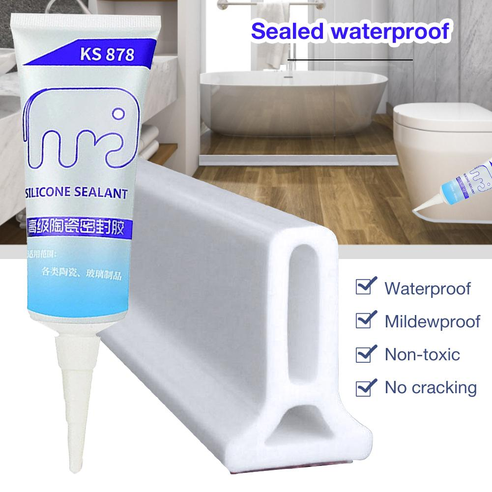 Shower Barrier Water Stopper Waterproof Beauty Seam Sewing Edge Wall Glue Bathroom Sealant Waterproof Mouldproof