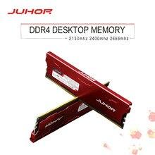Ram 16gb de juhor ddr4 8gb 4 2133mhz 2400mhz 2666mhz 3200mhz 3000mhzdimm memória nova do desktop do navio de dimm com dissipador de calor