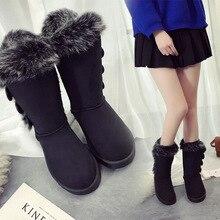 النساء أحذية الثلوج أحذية كبيرة الحجم عالية أنبوب الكلاسيكية سميكة الصوف نماذج الخريف الشتاء الثلوج أحذية كبيرة أحذية قطنية جودة الأحذية
