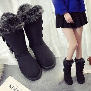 Image 1 - Buty damskie śniegowce duże rozmiary wysokie rurki klasyczne modele z grubego polaru jesienne zimowe buty śnieżne w dużych rozmiarach z bawełny buty buty dobrej jakości