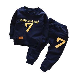 Kids Tracksuit Clothing Autumn Boys Children T-Shirt-Pants Letter-Sets Baby Spring Cotton