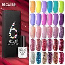 Rosalind Gel Nail Polish Set 14 Warna Series UV Lacquer Pernis Kuku Set untuk Seni Desgin Manicure Top dan Base(China)