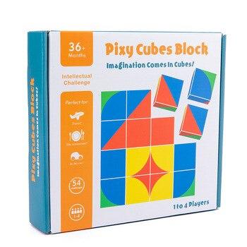 חדש לילדים מעץ צעצועים חינוכיים pixy קוביות בלוקים מרחב חשיבה אינטליגנציה לילדים תינוק 5