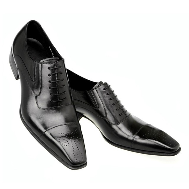 Formal Leather Long Toe Dress Shoes 4