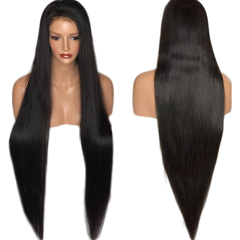 Charisma 30 Inches Lace Front Wig Natural Straight Glueless Synthetic Wigs High Temperature Heat Resistant Hair Women Wig