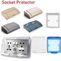 1PC 86Typ Doppel Buchse Protector Steckdose Elektrische Stecker Abdeckung Kind Sicherheit Wasserdicht Splash Box Bad Lieferungen