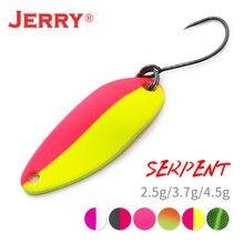 Jerry serpente micro colheres de pesca latão wobbler lago área truta chub poleiro metal iscas bugigangas