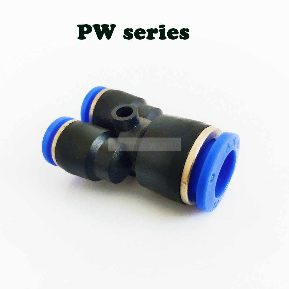12Pcs neumática 1//8 PT hilo empuje conectores accesorios para 6mm Tubo