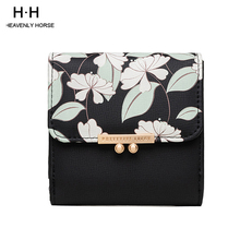 2019 New Arrival Small Fresh Printed Women Short Wallet Swee