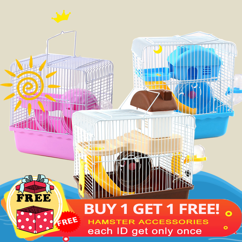 The Cheapest 2 Styles Hamster Cage Small Pet Toy Travel Cage Castle Bed Warm House Mouse Cages Accessories Pets Supplies Mat