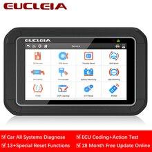 Eucleia s7c sistema completo ferramenta de diagnóstico do carro obd2 scanner ecu codificação ativação teste ativar esconder função abs tpms pk mk808ts