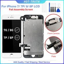 3D מגע LCD עבור iPhone 7 7 בתוספת 8 8 בתוספת תצוגת Digitizer עצרת + חזית מול מצלמה + רמקול