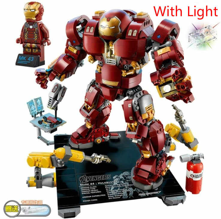 Avengers Super Heroes Iron man Hulk buster Compatible Legoinglys 76105 Building Blocks Marvel Brick figure toys for children