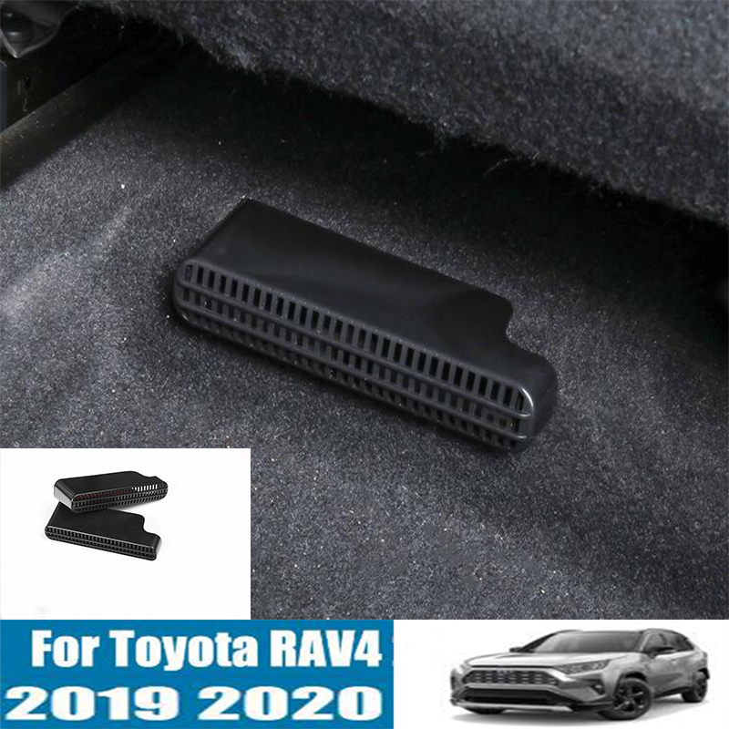 DNHFC Under-seat exhaust heater floor air duct vent grille air conditioning cover net For Toyota RAV4 <font><b>RAV</b></font> <font><b>4</b></font> XA50 <font><b>2019</b></font> 2020 image