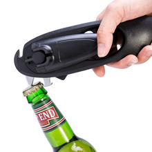 8 in 1 Can Opener Bottle Opener Manual Tin Canned Food Opener Multi-function Stainless Steel Canning Knife Kitchen Bar Tools manual food tin can seamer