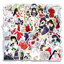 50pcs/set Japanese Anime Inuyasha Paper Sticker Decoration DIY Diary Stickers Scrapbooking Label Bicycle Skate Sticker Set