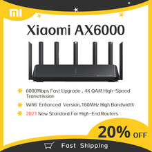 2021 New Xiaomi Router AX6000 WiFi6 AIoT Router 6000Mbs VPN 512MB Qualcomm CPU Mesh Repeater External Signal Network Amplifier