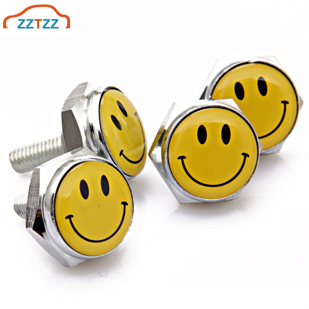 4 CHROME METAL SHORT SPIKE MOTORCYCLE LICENSE FRAME TAG  BOLTS LOW PROFILE