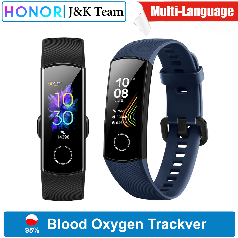 Huawei Honor Band 5 Blood Oxygen Smartwatch AMOLED Huawei Smart Band Heart Rage Ftness Sleep Tracker Swiming Sport Trakcer