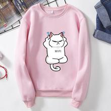 Женский свитшот с длинным рукавом Розовый Повседневный пуловер