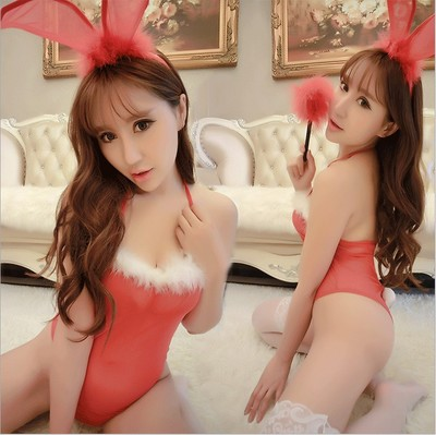 Sheer Bodysuits Teddies Erotic Lingerie Cute Bunny Naughty Costume Sexy Club Rabbit Outfit Uniform Body Lingerie