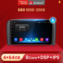 Junsun 4G+64G Android 10 For Volvo S80 1998   2006 Auto 2 din Car Radio Stereo Player Bluetooth GPS Navigation No 2din dvd