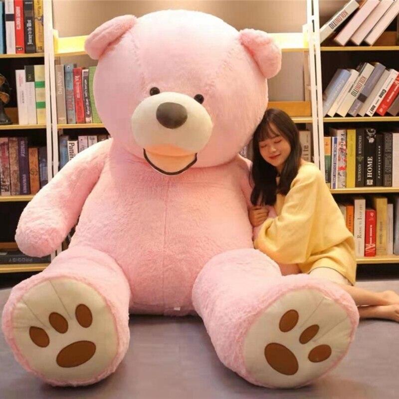 100-260cm barato gigante unstuffed vazio teddy bear pele casaco macio casca de pele grande semi-acabado brinquedos de pelúcia clássico crianças boneca presente