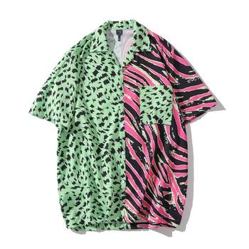 Man's Fashion Shirt Short Sleeve Man's Hawaiian Shirt Man's Animal Print Shirt Man Shirt Short Sleeve Cool Street Style Man Top фото