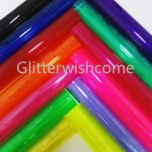 Glitterwishcome 21X29CM A4 Tamanho Vinil Para Arcos Ver Através de PVC Folhas de Folhas De Couro 0.8 MILÍMETROS de Couro Falso para Arcos, GM371A