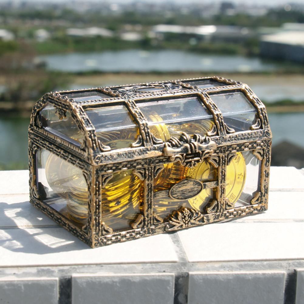 Transparent Pirate Jewelry Box Treasure Box Trinket Organizer Jewelry Storage Case Jewelry Display Organizador De Joyas