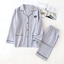 Mens pajamas men sleepwear 100% Cotton Pajama Spring Autumn