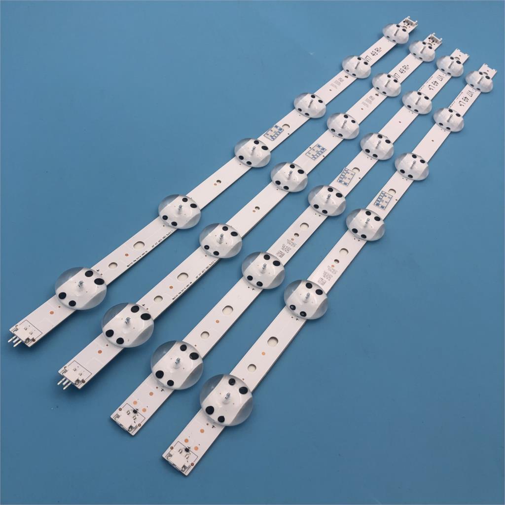 4 pièces LED bande de Rétro-Éclairage Pour LG 49 ''TÉLÉVISION 6916L-2862A 6916L-2863A V17 49 R1 + L1 ART3 49UJ670V-ZD 49UJ651V LC490DGG (FK) (MD)