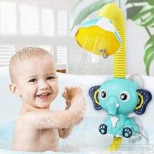 Игрушки для ванны для детей, Электрический слон, присоска для животных, Детские Игрушки для ванны, спрей для воды, игрушки для детей, игрушки ...