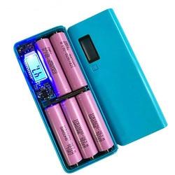 Портативное зарядное устройство 5x18650, портативное зарядное устройство 5 В с двумя USB-портами, корпус для самостоятельной сборки, держатель а...