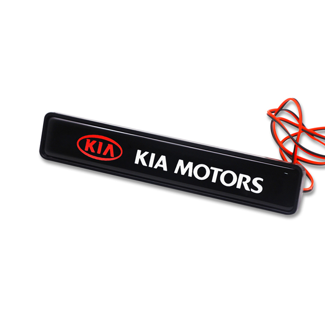 Light Grille Emblem For KIA Ceed Sportage Optima Rio Soul Niro Sorento Carnival Forte Cerato Car Front Exterior Led Decortion 2