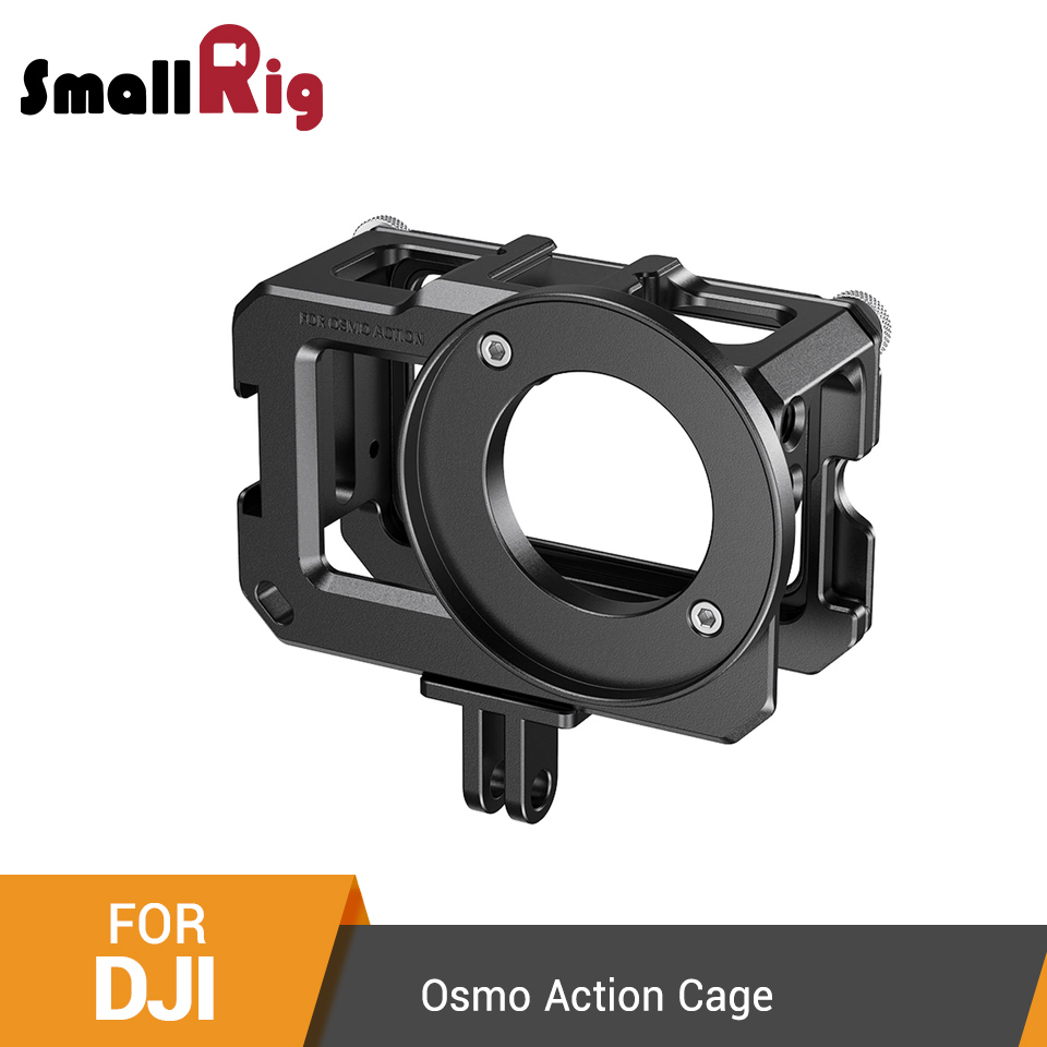 SmallRig Cage For DJI Osmo Action (Compatible With Microphone Adapter) Camera Cage With Cold Shoe Mounts -2475