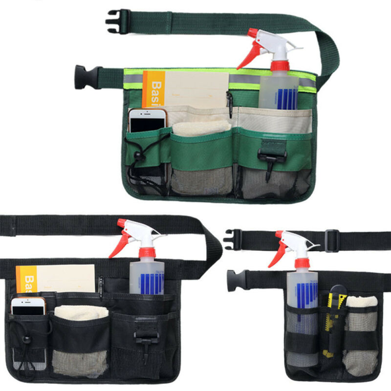 34x23 Cm Multifunction Durable Waterproof Canvas Tool Bag Waist Belt Bag Electrician Repair Tool Pouch Organizer Holes Pocket