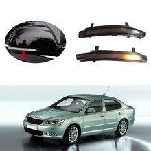 цена на LED Side Wing Rearview Mirror Dynamic Turn Signal Light For Skoda Octavia 1Z3 1Z5 2009-2013 SUPERB 3T4 3T5 2008 2009-2013