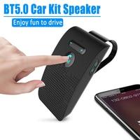 Kit automotivo com receptor de áudio, bluetooth 5.0, viva-voz, alto-falante sem fio, chamada telefônica multiponto, libres