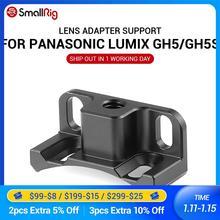 Smallrig suporte adaptador de lente para panasonic, suporte adaptador de lentes para panasonic lumix gh5/gh5s smallrig gaiola 2049 2016 para montagem de metabones ef to lente m43,
