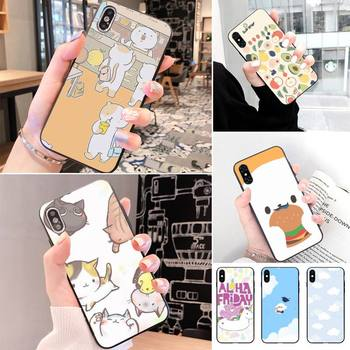 The Simple And Honest Cartoon Bear Luxury Phone Case For IphoneX XS 11 11Pro 5 5s SE 6 6s plus 7 8 SE 2020 Case image