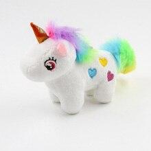 Единорог, плюшевая игрушка, мягкая набивная популярная мультяшная кукла-единорог, игрушка-Зверюшка, лошадь, маленькие подвесные игрушки дл...