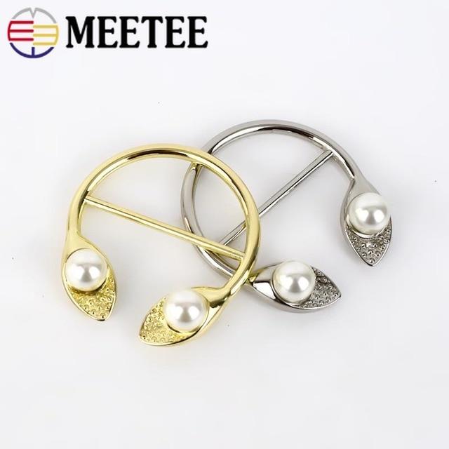 2/4 stücke Perle Metall Gürtel Schnallen für Mantel Windbreaker Ecke Metall Tasten Teller Dekorative Schnallen DIY Bekleidungs Zubehör