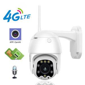 INQMEGA 4G Camera 1080P HD PTZ Camera Wireless GSM SIM Card WIFI IP Camera Security Outdoor CCTV P2P IR Night Vision 30M CamHi