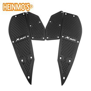 Image 3 - For yamaha xmax 300 1 Set 4 PCS Footrest Pedal Plates x max 300 Motorcycle Scooter Accessories xmax 300 For yamaha Foot Rest Pad