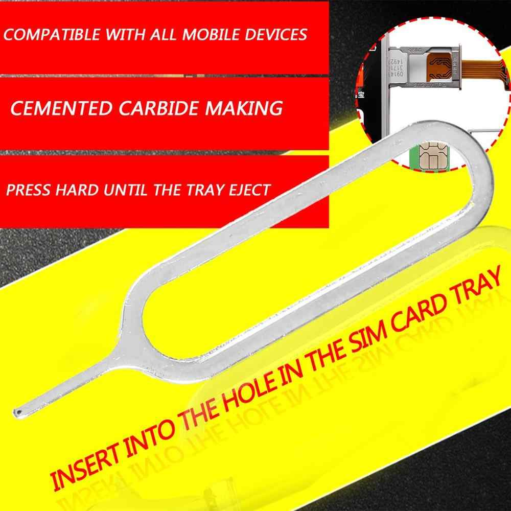 1pcs Sim Card Eject Pin Key Tool Needle For iPhone 5 5S 4 4S 3GS Cell Phone Tool Tray Holder Eject Metal Pin Wholesale